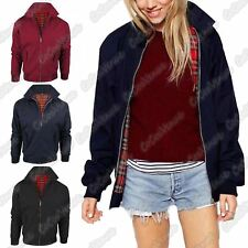 New Ladies Zip Up Classic Trendy Retro Vintage Bomber Mod Harrington Jacket Coat