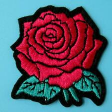 Rose Flower Motif Iron Sew on Patch Cute Applique Badge Embroidered Motif Dress