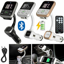 Wireless Bluetooth Car FM Radio Transmitter MP3 Player LCD USB  Mobile Charger