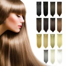22 18 15 Inch 8Pcs 18Clips Full Head Hair Extensions Long Straight real feel