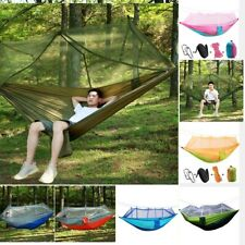 Portable Parachute Camping Travel Hammock with Mosquito Net Sleeping Swing Bed