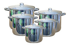 Buckingham Top Quality Stainless Steel Induction Compatible Deep Stock Pot Set