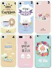 TPU Gel Silicona Carcasa Funda Apple iPhone 5 6 6S Plus 7 8 X DIBUJOS FRASES