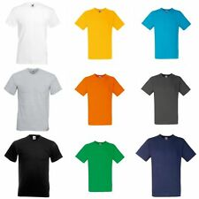 T-shirt à manches courtes, col en V Fruit Of The Loom, 100% coton, homme (S-2XL