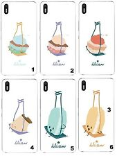TPU Gel Silicona Carcasa Funda Apple iPhone 5 6 6S Plus 7 8 X COLUMPIO MACARONS