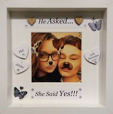 Personalised Engagement Gifts, Keepsake Gifts, He Asked She Said Yes