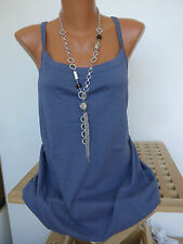 Sheego BLOUSE TUNIQUE CHEMISE TOP gr. 40 - 58 manches courtes bleu (405) NEUF