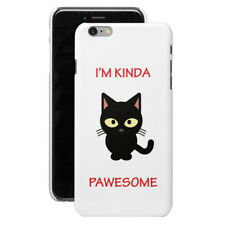 Kinda Pawesome Cat iPhone Cases - iPhone 4 /4s/ 5/ 5S/ 5C/ 6/ 6+/ 7/ 7+/ 8/ 8+