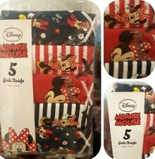 Disney's Minnie Mouse 5pk Cotton Briefs Panties Knickers 2-8Y BNWT
