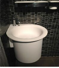 Agape In-Out Washbasins semi-recessed circular washbasin without holes ACER1061S