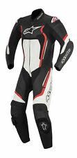 Alpinestars Motegi V2 Leather Motorcycle 1 piece Suit Black/White/Red Fluro