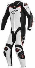 Alpinestars Leather GP Pro Motorcycle Motorbike 1 Piece Suit White/Black/Red