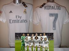 Real Madrid Adidas Ronaldo Bale James BNWT S M L XL Soccer Shirt Jersey New Top