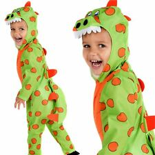 Boys Girls Toddler Dinosaur Costume Fancy Dress Up Book Week Outfit Age 1-4 Yrs