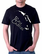 t-shirt nera tribute ray charles pianista - disponibile in tutte le taglie d62