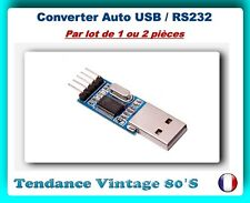*** LOT DE 1 OU 2 MODULES AUTO CONVERTER USB VERS SERIE R232 TTL / PL2303HX ***
