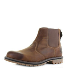 Mens Timberland Larchmont Chelsea Leather Brown Premium Ankle Boots Size