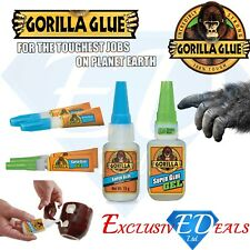 Gorilla Super Glue Full Range: 3g / 2 x 3g / 15g / 15g Gel / 12g Brush & Nozzle
