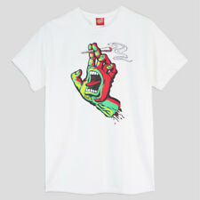 Santa Cruz Smokin' Hand T-Shirt - Herren Skateboard Shirt - white ( S - XL )