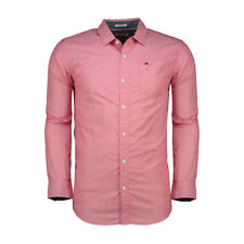 CAMICIA TOMMY JEANS HILFIGER BASIC SOLID RACING ROSSO
