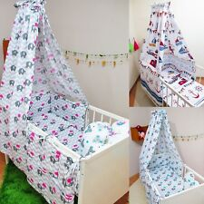 10 Pcs Baby Nursery Bedding Set CANOPY Mosquito Cot 120x60 or Cot Bed 140x70cm