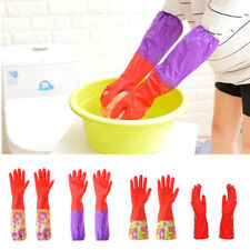 Long Gloves Cleaning Household Kitchen Glove Rubber Latex Dish Washing U0219