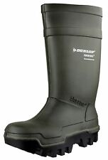 DUNLOP THERMO PLUS FULL SAFETY -40C Mens VERDE LAVORO Stivali Wellington uk5-13