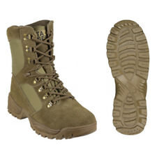 Botas Tacticas De Piel De Serraje Barbaric Force Twister Color Army, Con Sistema