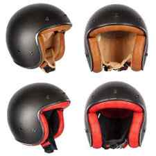 Spada Dark Star Carbon Open Face Motorbike Motorcycle Retro Helmet