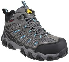 Amblers as802 Seguridad Bota Alpinista Gris Impermeable No Metal ZAPATO MUJER
