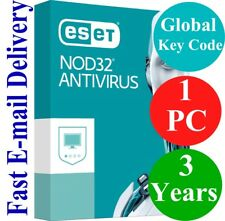 ESET NOD32 Antivirus 1 PC / 3 Years (Unique Global Key Code) 2018