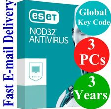 ESET NOD32 Antivirus 3 PCs / 3 Years (Unique Global Key Code) 2018