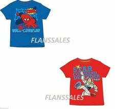 Chicos Niños Toy Story Spiderman Marvel Vengadores Manga Camiseta 18m-10y