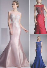 Taffeta Mermaid Bridesmaid Evening Formal Party Cocktail Dress Gown Prom 2~18