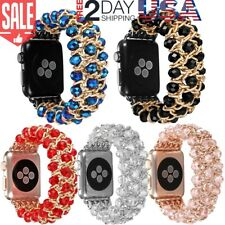 Crystal Bead Luxury Band 42mm 38mm Bracelet For iWatch Apple Watch Series 3 2 1