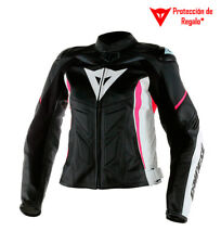 Dainese - Giacca in pelle Avro D1 Lady nera, bianca, fucsia Donna