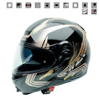 Nzi - Casco per trucco multicolore Combi Duo Graphics