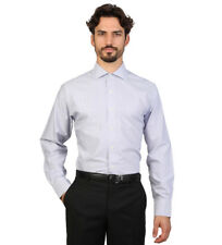 Brooks Brothers - Camicia slim fit blu e bianco con gessato Uomo