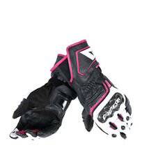Dainese - Guanti in pelle Carbon D1 Long Lady neri, fucsia Donna