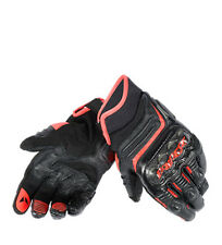 Dainese - Carbon Gloves D1 Short nero, rosso fluor Uomo