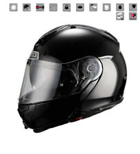 Nzi - Casco modulare Combi Duo Graphics nero nero