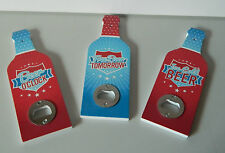 WALL MOUNTED RETRO STYLE BEER BOTTLE OPENER VINTAGE STYLE ICE COLD BEER