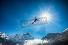 "Bildmotiv ""Mt.Machapuchare and helicopter with the sun"""