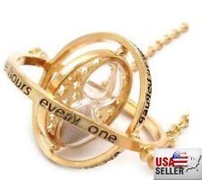 US New Harry Potter Time Turner Hermione Granger Rotating Hourglass Necklace