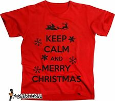 t-shirt Keep calm and merry christmas tutte le taglie uomo donna maglietta d308