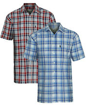 Mens Champion Radstock Country Style 100% Cotton Casual Short Sleeved Shirt