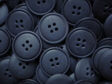 Large 23mm 36L Navy Blue  4 Hole Polished Button Craft Coat Buttons S75