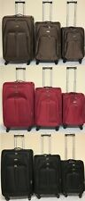 4-Wheel Suitcase Lightweight Soft Case Expandable Luggage Trolley Cabin Bag NEW