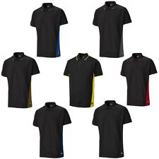 DICKIES BICOLORE Polo manches courtes 3 boutons travail T-Shirt Hommes sh2004