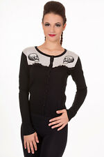Gothic Skull Parallel Universe Lace Rockabilly Punk Cardigan By Banned Apparel